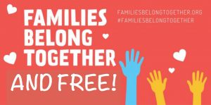 """Families Belong Together"" Charlottesville Rally Logo"